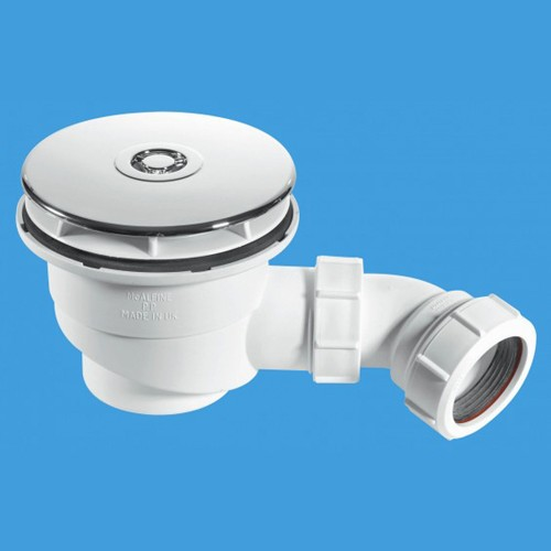 "Additional image for 1 1/2"" x 50mm Water Seal Shower Trap & Flange"