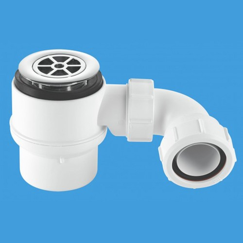 "Additional image for 1 1/2"" x 50mm Water Seal Shower Trap, 70mm Flange."