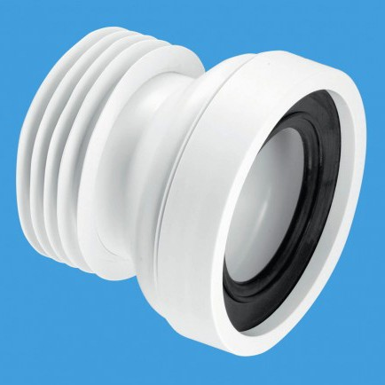 """Additional image for WC 4""""/110mm Straight Rigid Toilet Pan Connector."""
