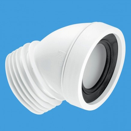 """Additional image for WC 4""""/110mm 45 Degree Toilet Pan Connector."""