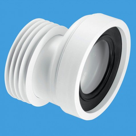 """Additional image for WC 4""""/110mm Offset Rigid Toilet Pan Connector."""