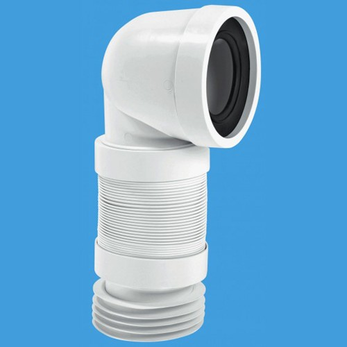 "Additional image for WC 4""/110mm 90 Degree Toilet Pan Extendable Connector."