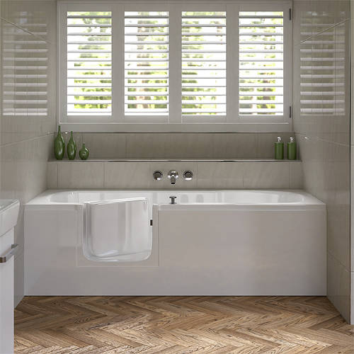 Additional image for Aventis Walk In Bath With Left Handed Door Entry (Whirlpool).