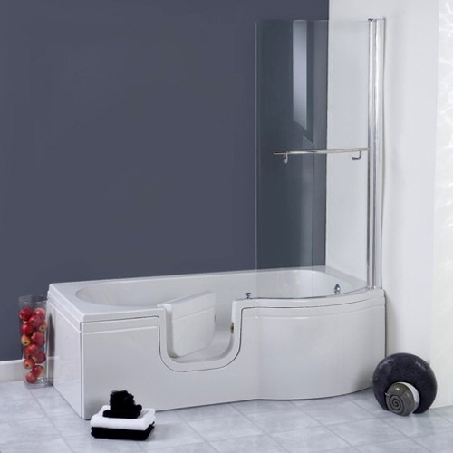 Additional image for Calypso Walk In Shower Bath With Left Hand Door (1675x850).