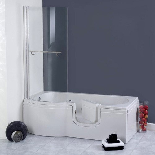 Additional image for Calypso Walk In Shower Bath With Right Hand Door (1675x850).