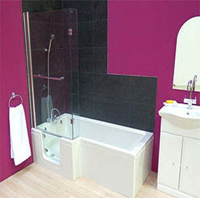 Additional image for Savana Walk In Shower Bath With Left Hand Door (Whirlpool).