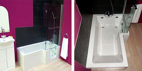 Additional image for Savana Walk In Shower Bath With Right Hand Door (Whirlpool).