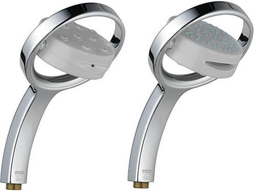 Additional image for Four Spray 360M Shower Handset (White & Chrome).