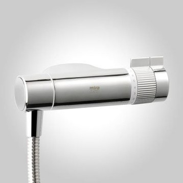 Additional image for Eco Exposed Thermostatic Shower Valve With Slide Rail Kit (Chrome).