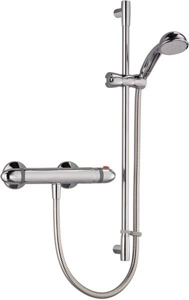 Additional image for Thermostatic Bar Shower Valve With Shower Kit (Chrome).