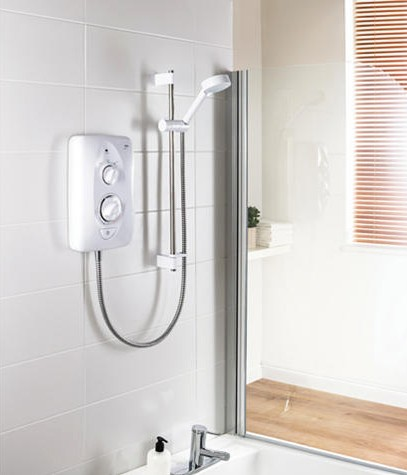 Additional image for Jump Electric Shower (White & Chrome, 9.5kW).