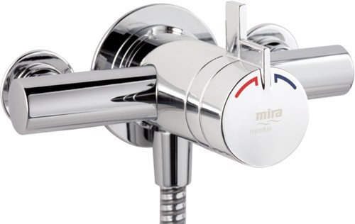 Additional image for Exposed Thermostatic Shower Valve With Shower Kit (Chrome).