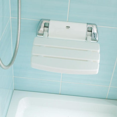 Additional image for Mira Shower Seat (White & Chrome).