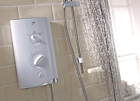 Additional image for Mira Sport Thermostatic 9.0kW in white & chrome.