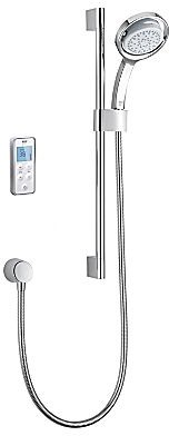 Additional image for Rear Fed Digital Shower (Pumped, White & Chrome).