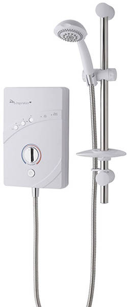 Additional image for InspiratIon QI Electric Shower (10.5kW, White & Chrome).