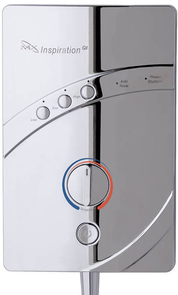 Additional image for InspiratIon QI Electric Shower (9.5kW, Chrome).