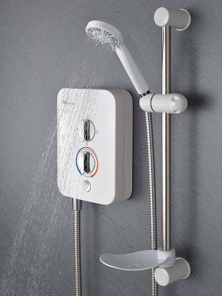 Additional image for Intro 850 Electric Shower (8.5kW, White & Chrome).