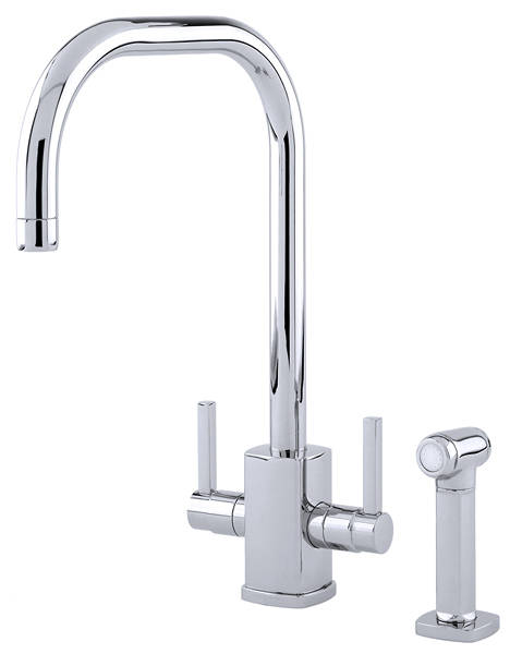Additional image for Kitchen Tap With Rinser & U Spout (Chrome).