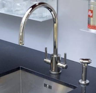 Additional image for Kitchen Tap With Rinser & C Spout (Chrome).