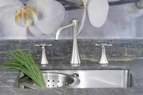 Additional image for 3 Hole Kitchen Tap (Pewter).