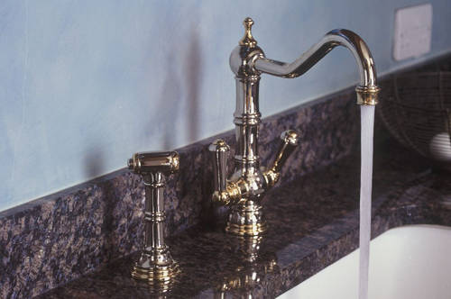 Additional image for Kitchen Tap With Rinser & Lever Handles (Gold).