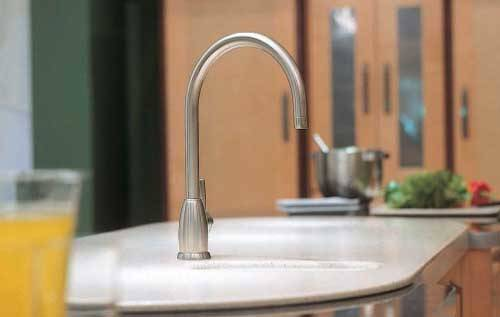 Additional image for Single Lever Kitchen Mixer Tap With C Spout (Pewter).