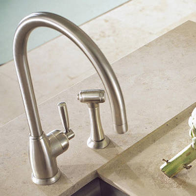 Additional image for Kitchen Tap With Lever Handle & Rinser (Pewter).