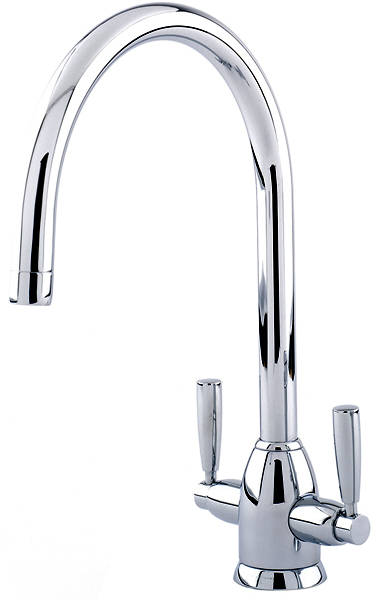 Additional image for Kitchen Mixer Tap With Twin Lever Handles (Chrome).