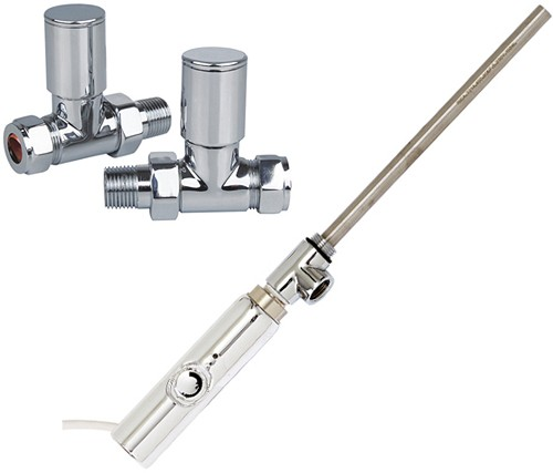 Additional image for Thermostatic Element Pack & Straight Valves  (150w).