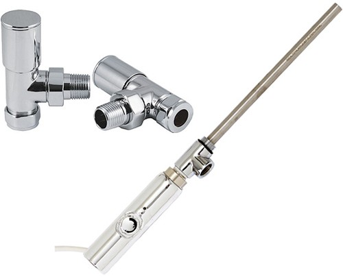 Additional image for Thermostatic Element Pack With Angled Valves  (600w).