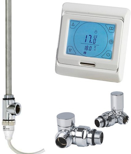 Additional image for Digital Thermostat Pack With Corner Valves (600w).