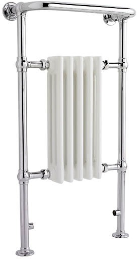Additional image for Harrow Traditional Heated Towel Rail. 540x965mm. 1875 BTU.
