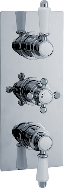 Additional image for Traditional Triple Concealed Thermostatic Shower Valve.