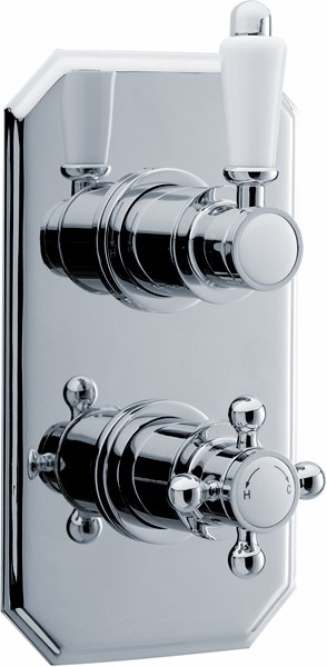 Additional image for Traditional Twin Concealed Thermostatic Shower Valve.