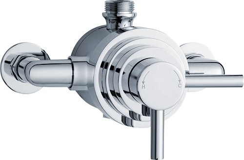 Additional image for Dual Exposed Thermostatic Shower Valve (Chrome).