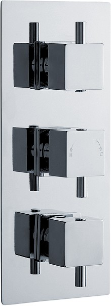 "Additional image for 3/4"" Triple Thermostatic Shower Valve With Diverter."