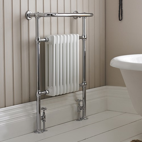 Additional image for Harrow Traditional Heated Towel Rail. 673x965mm. 3520 BTU.