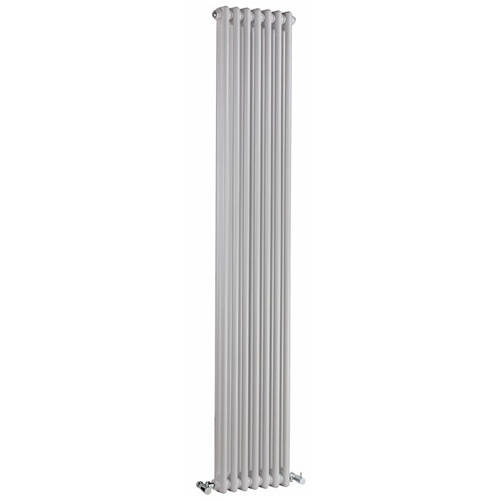 Additional image for Regency 2 Column Radiator (White). 335x1800mm. 4471 BTU.