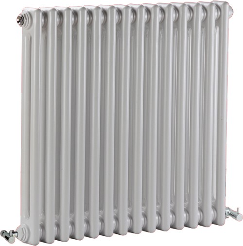 Additional image for Regency 2 Column Radiator (White). 650x600mm. 2981 BTU.