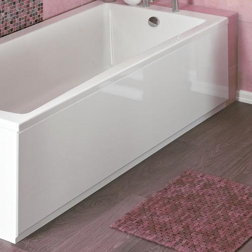 1700mm Side Bath Panel White Acrylic Crown Bath Panels