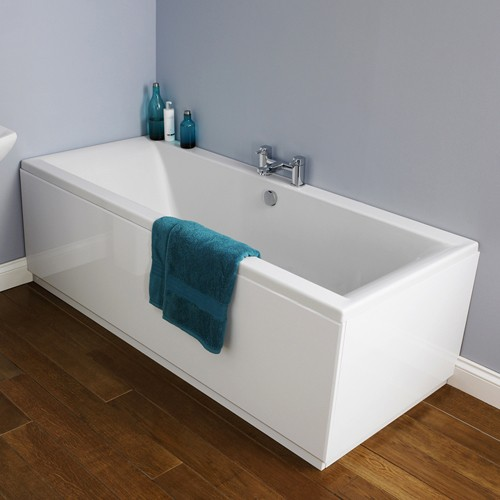 Additional image for Asselby Double Ended Acrylic Bath & Panels. 1800x800mm.