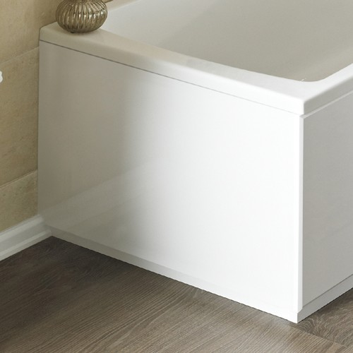 Additional image for 900mm 2 piece End Bath Panel (White, MDF).