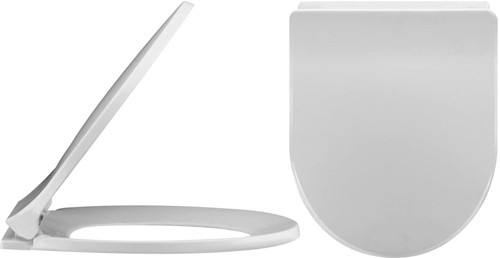 Additional image for Standard D-Shape Soft Close Toilet Seat.