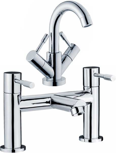 Additional image for Basin & Bath Filler Tap Set (Chrome).