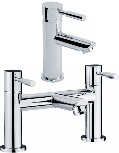 Additional image for Bath Filler And Single Lever Basin Tap Set (Chrome).