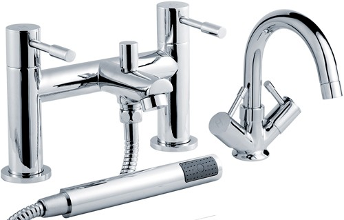 Additional image for Economy Basin & Bath Shower Mixer Tap Set.