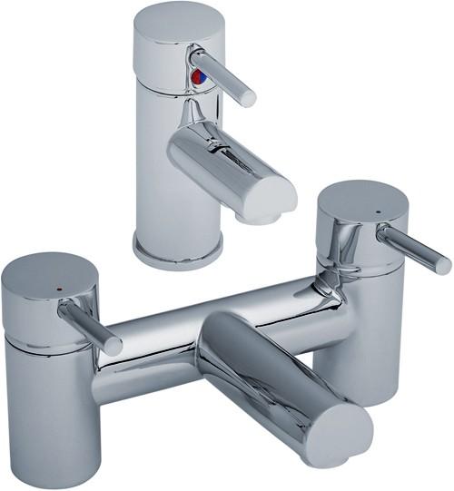 Additional image for Basin & Bath Filler Tap Set (Chrome).