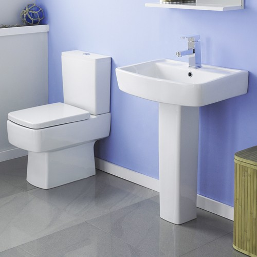 Additional image for Bliss 4 Piece Bathroom Suite With Toilet & 600mm Basin.