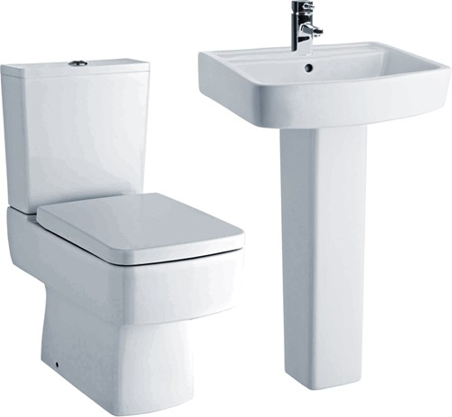 Additional image for Bliss 4 Piece Bathroom Suite With Toilet & 520mm Basin.